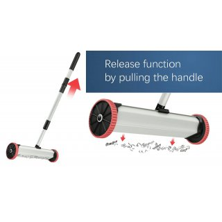 Magnetic Sweeper with Release Function, 385mm