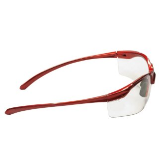Red Protective Spectacles with transparent lenses