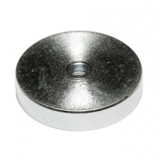 Neodymium Pot Magnet with Countersunk 40x8 500N (50kg)