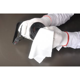 Polyurethane Assembly Glove in white- the light solution...