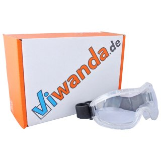 Wide Vision Safety Googles with Hard PC Lenses and Flexible PPR Frame