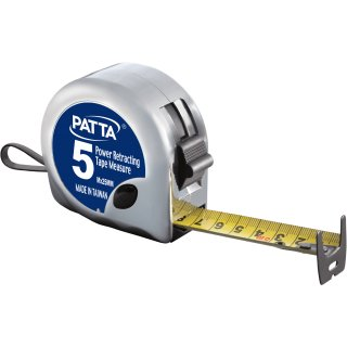 PATTA Power retracting bend-resist tape measure 5M x 25mm
