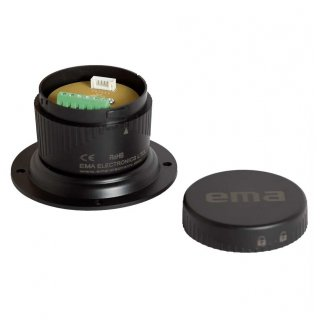 EMA Basis P-Type Stand Module and Cap, 70mm,10mm length, Black, IP54