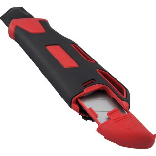 Viwanda Heavy Duty 25mm duo-lock red retractable knife with extra thick stainless steel blade and spare blade holder