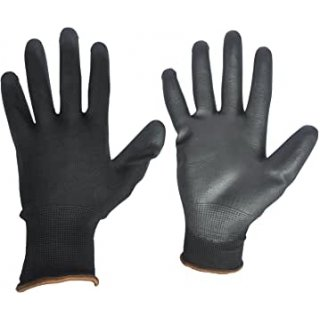 Polyurethane Assembly Glove in black- the light solution...